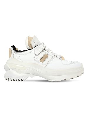 Maison Margiela 70mm destroyed leather sneakers