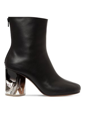 Maison Margiela 80mm crusched heel leather boots