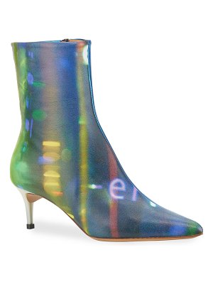 Maison Margiela After Party Printed Kitten-Heel Ankle Boots