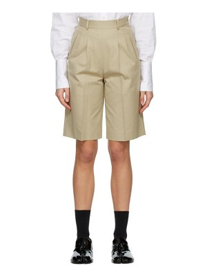 Maison Margiela beige city shorts