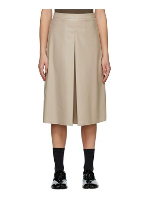 Maison Margiela beige pleated shorts
