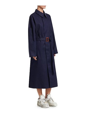 Maison Margiela belted irredescent combo trench coat