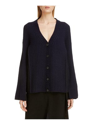 Maison Margiela bicolor wool blend cardigan