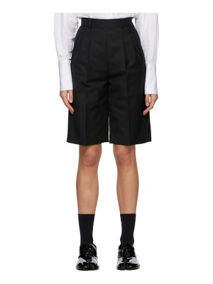 Maison Margiela black city shorts