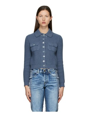 Maison Margiela blue cropped cardigan