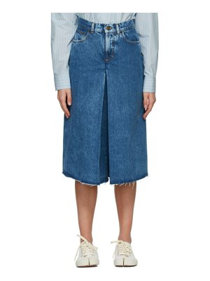 Maison Margiela blue denim spliced shorts