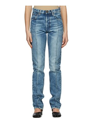 Maison Margiela blue recycled pleated jeans