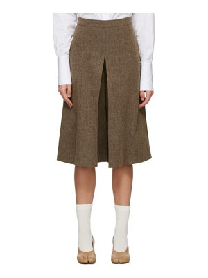 Maison Margiela brown heavy pleated shorts
