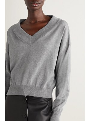 Maison Margiela cold-shoulder cotton-jersey sweatshirt