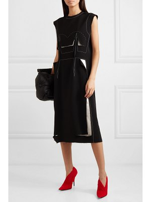 Maison Margiela cotton-trimmed wool-blend dress
