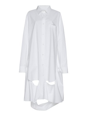 Maison Margiela cutout detail cotton shirtdress