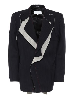 Maison Margiela deconstructed striped wool blazer
