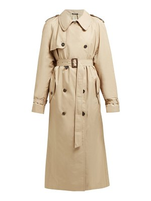 Maison Margiela double breasted cotton blend trench coat