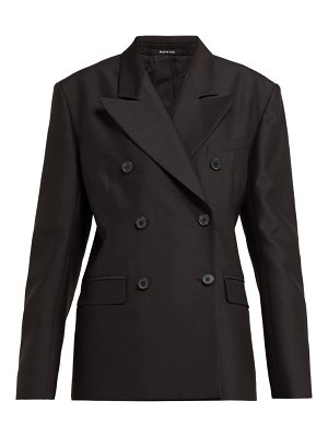 Maison Margiela Double Breasted Wool And Silk Blazer