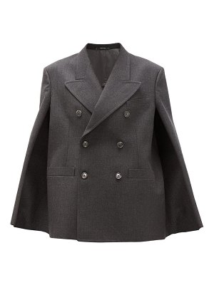 Maison Margiela double-breasted wool cape jacket
