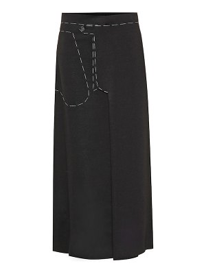 Maison Margiela embroidered midi skirt