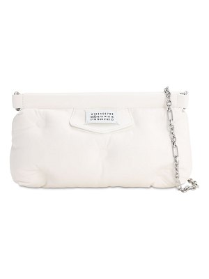 Maison Margiela Glam slam red carpet leather clutch