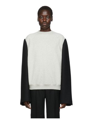 Maison Margiela grey and black wool mens sweatshirt