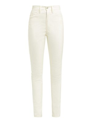 Maison Margiela high rise skinny pvc trousers