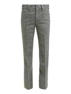 Maison Margiela kick flare herringbone wool cropped trousers