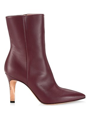 Maison Margiela leather point-toe booties