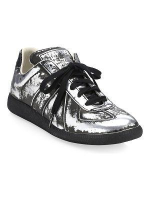 Maison Margiela metallic leather sneakers
