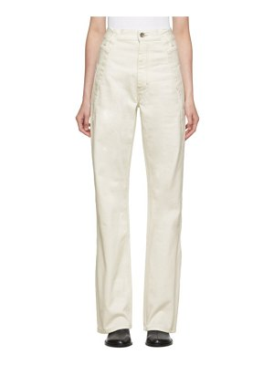 Maison Margiela off-white folded side jeans