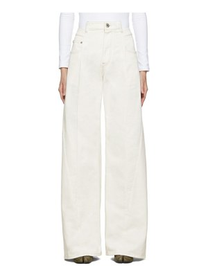 Maison Margiela off-white wide-leg decortique asymmetric jeans