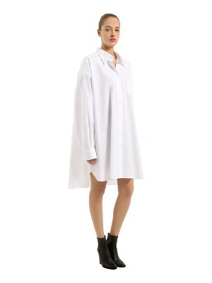Maison Margiela Oversized cotton poplin shirt dress
