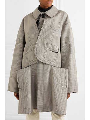 Maison Margiela oversized layered checked wool and cotton-blend coat