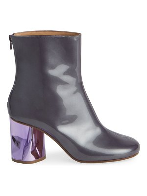 Maison Margiela patent leather crushed heel ankle boots