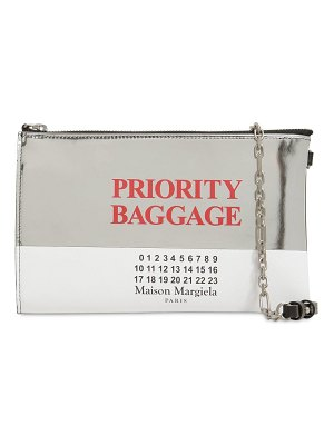 Maison Margiela Priority baggage leather shoulder bag