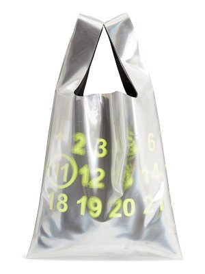 Maison Margiela pvc & leather shopper bag