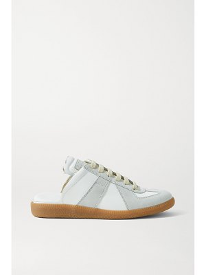 Maison Margiela replica leather and suede slip-on sneakers
