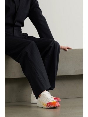 Maison Margiela replica printed cotton-canvas sneakers