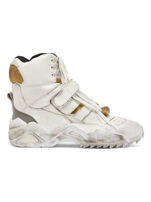 Maison Margiela Retro Fit Distressed High Top Trainers