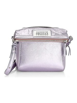 Maison Margiela small metallic leather crossbody bag