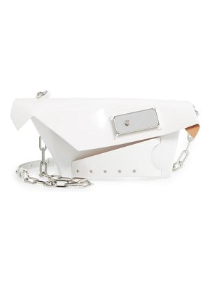 Maison Margiela small snatched calfskin leather convertible clutch