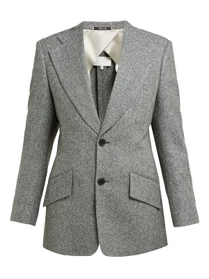 Maison Margiela split shoulder herringbone wool tailored jacket