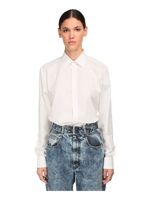 Maison Margiela Cotton poplin regular shirt
