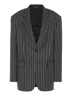 Maison Margiela striped wool-twill blazer