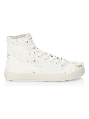 Maison Margiela tabi painted metallic high-top sneakers