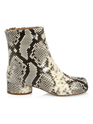 Maison Margiela tabi snakeskin-embossed leather ankle boots