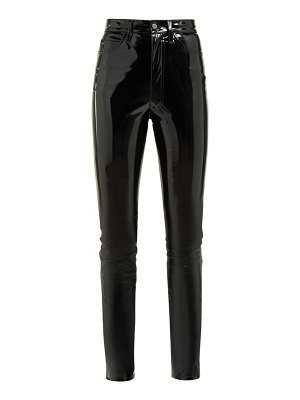 Maison Margiela wet look pvc skinny trousers