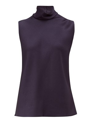 MAISON RABIH KAYROUZ high-neck sleeveless satin top