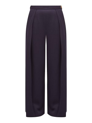 MAISON RABIH KAYROUZ high-rise sateen wide-leg trousers