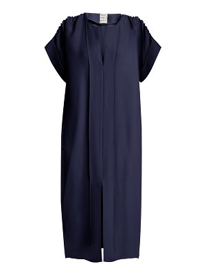 MAISON RABIH KAYROUZ ruched shoulder midi dress