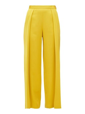 MAISON RABIH KAYROUZ textured pleat satin trousers