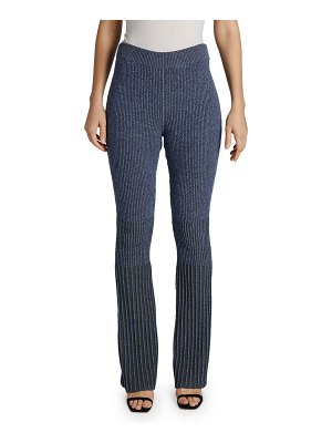 Maison Ullens Flare-Leg Ribbed-Knit Pants