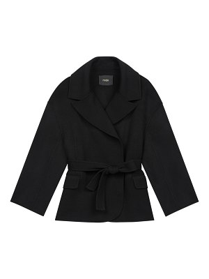 Maje double-faced belted coat